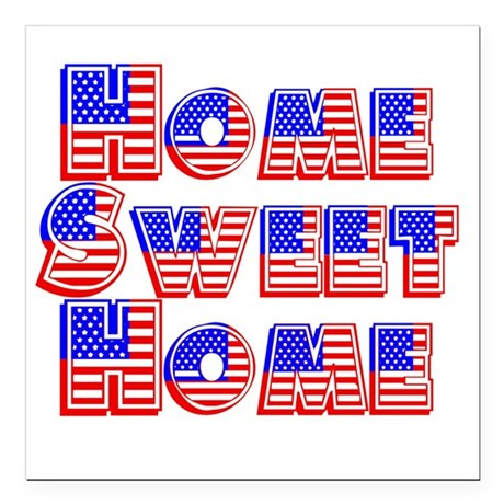 Home Sweet Home Square Car Magnet 3&quot; x 3&quot;
