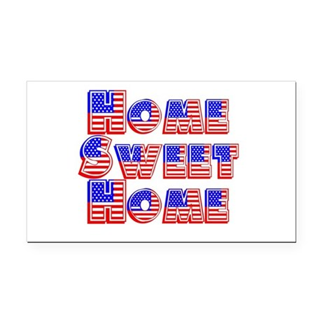 Home Sweet Home Rectangle Car Magnet