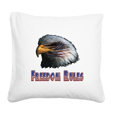 eagle3c.png Square Canvas Pillow