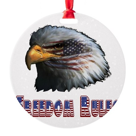 eagle3c.png Round Ornament