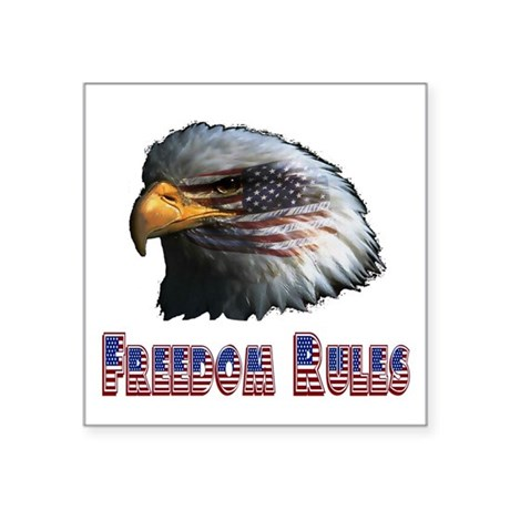 "eagle3c.png Square Sticker 3"" x 3"""