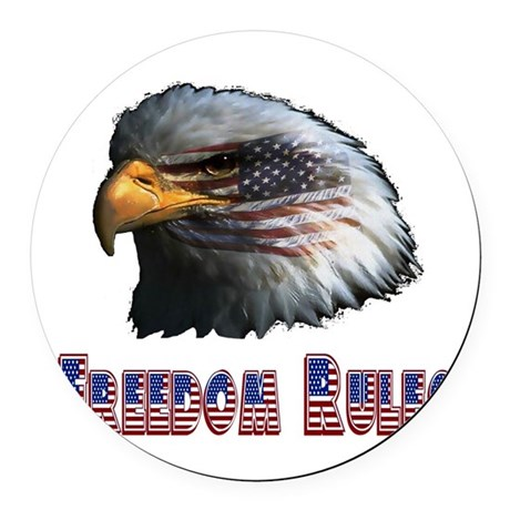 eagle3c.png Round Car Magnet