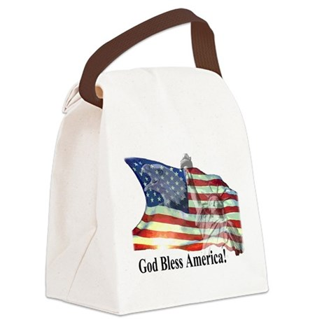 God Bless America! Canvas Lunch Bag