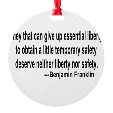 freedoms.png Round Ornament