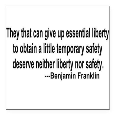 "freedoms.png Square Car Magnet 3"" x 3"""