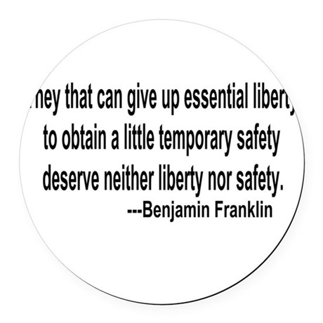 freedoms.png Round Car Magnet