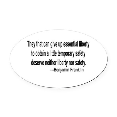 freedoms.png Oval Car Magnet
