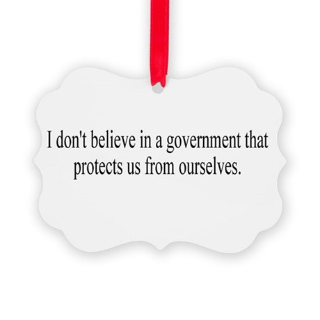 Government Protection Picture Ornament