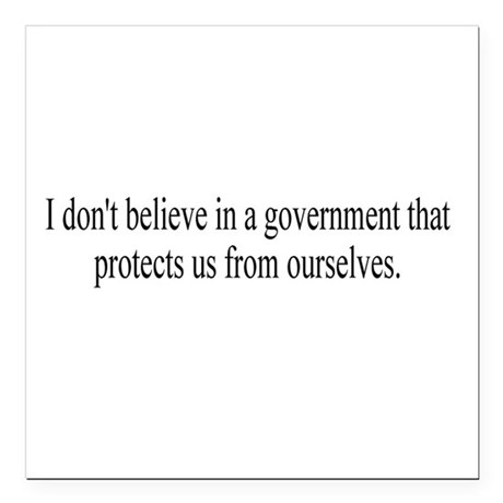 "Government Protection Square Car Magnet 3"" x 3"""