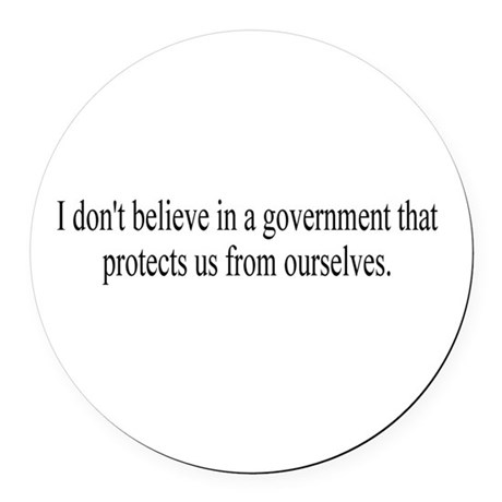 Government Protection Round Car Magnet