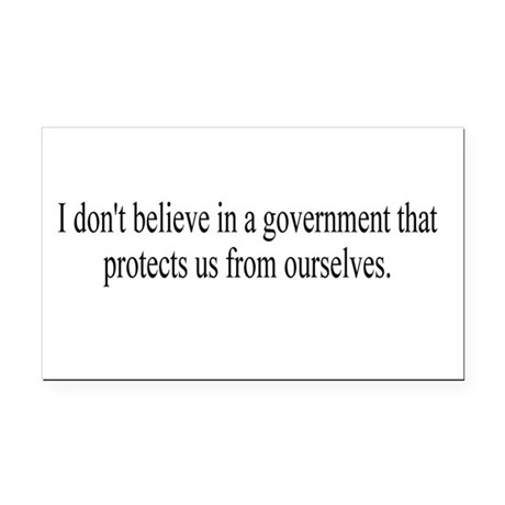 Government Protection Rectangle Car Magnet