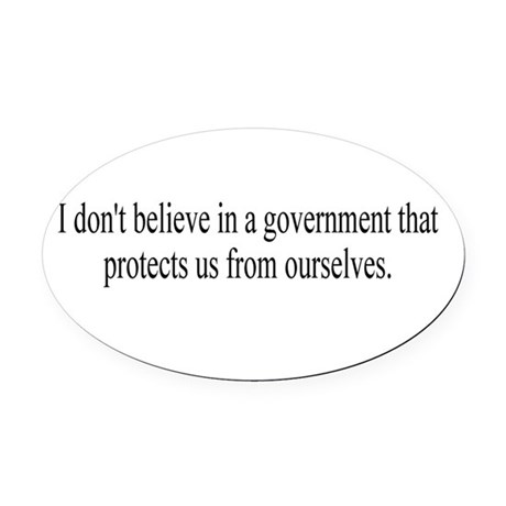 Government Protection Oval Car Magnet