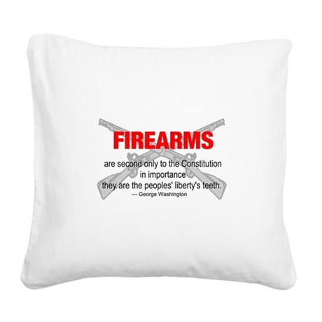 gun6d.png Square Canvas Pillow