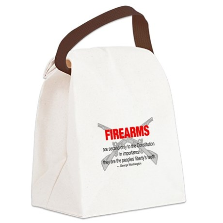 gun6d.png Canvas Lunch Bag