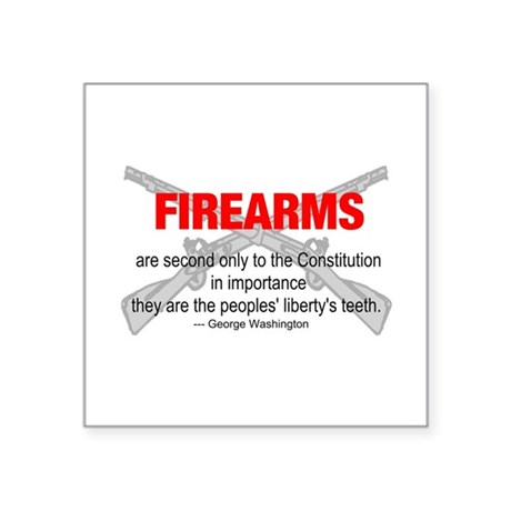 "gun6d.png Square Sticker 3"" x 3"""