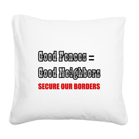borders1a.png Square Canvas Pillow