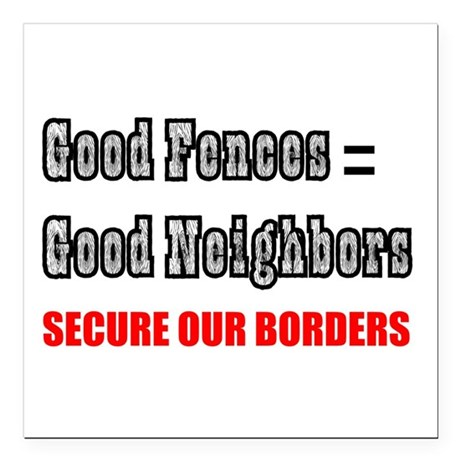 "borders1a.png Square Car Magnet 3"" x 3"""