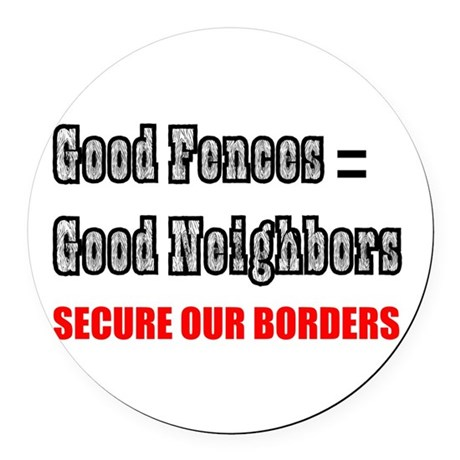 borders1a.png Round Car Magnet