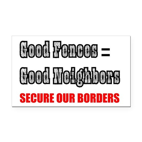 borders1a.png Rectangle Car Magnet