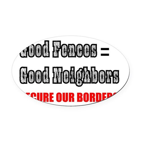 borders1a.png Oval Car Magnet