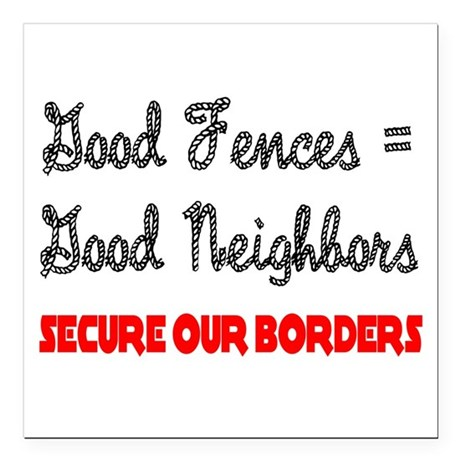 "borders3.png Square Car Magnet 3"" x 3"""