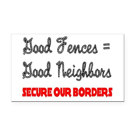 borders3.png Rectangle Car Magnet