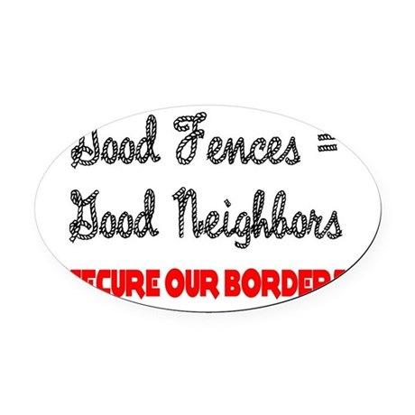 borders3.png Oval Car Magnet
