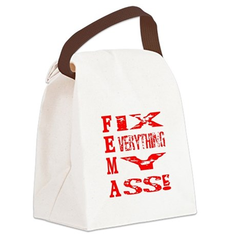 fema1a.png Canvas Lunch Bag