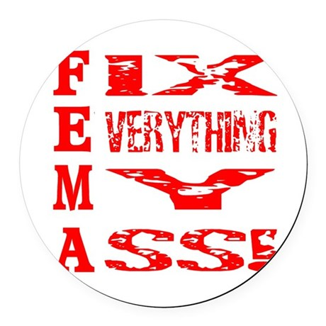 fema1a.png Round Car Magnet
