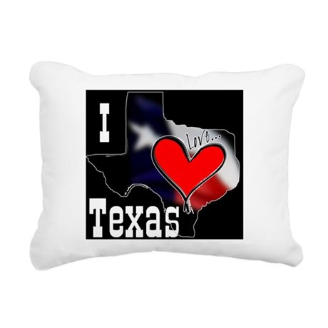 I Love Texas Rectangular Canvas Pillow