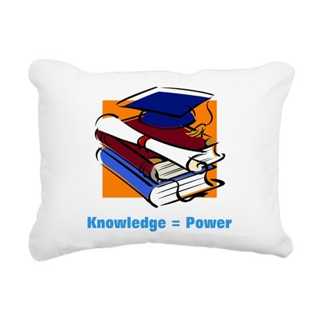 knowledge.png Rectangular Canvas Pillow