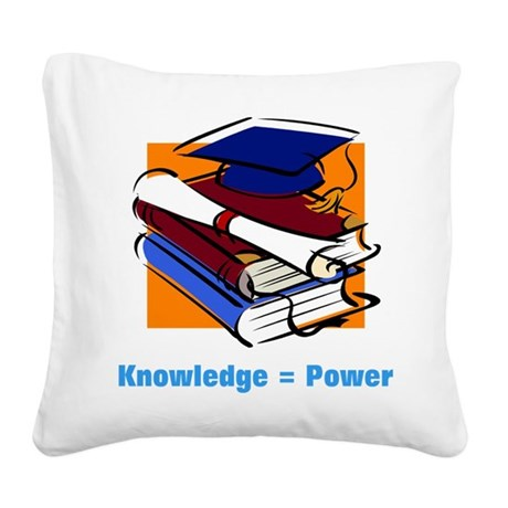 knowledge.png Square Canvas Pillow