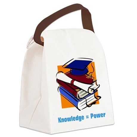 knowledge.png Canvas Lunch Bag