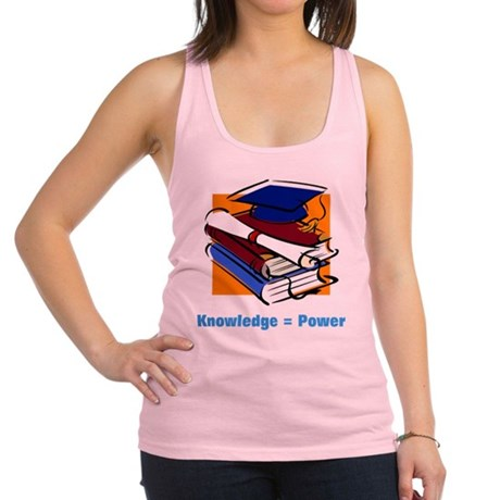 knowledge.png Racerback Tank Top
