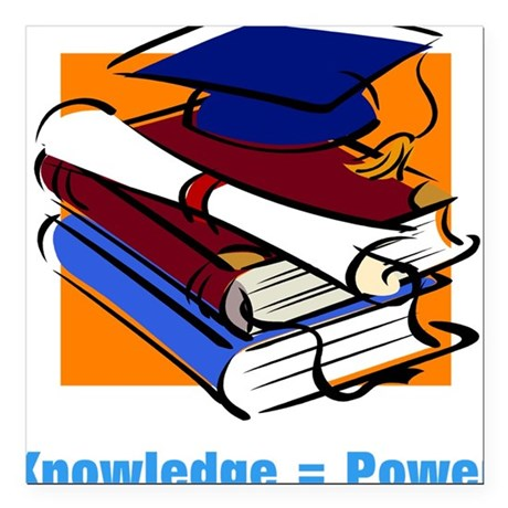 "knowledge.png Square Car Magnet 3"" x 3"""