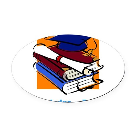 knowledge.png Oval Car Magnet