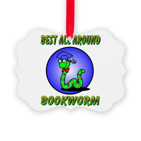 bookworm.png Picture Ornament