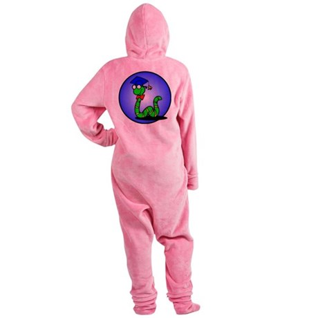 bookworm1.png Footed Pajamas