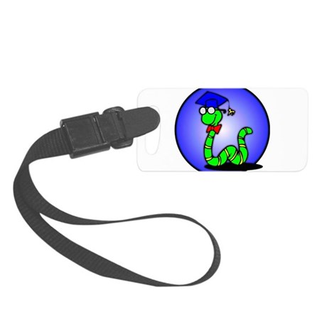 bookworm1.png Small Luggage Tag