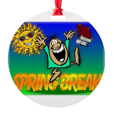 springbreak.png Round Ornament