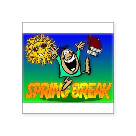 "springbreak.png Square Sticker 3"" x 3"""