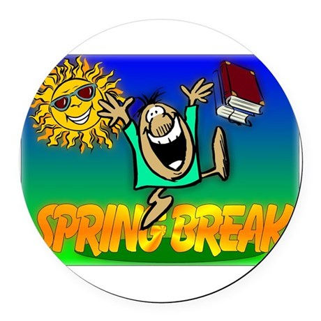 springbreak.png Round Car Magnet