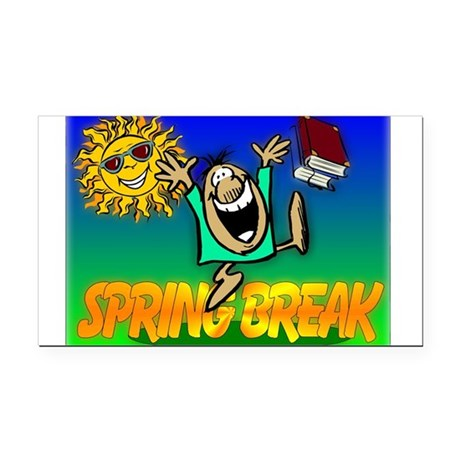 springbreak.png Rectangle Car Magnet
