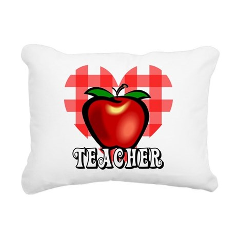 teacherapple2a.png Rectangular Canvas Pillow