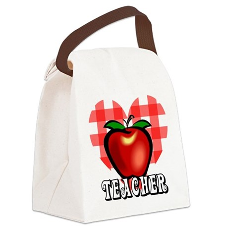 teacherapple2a.png Canvas Lunch Bag