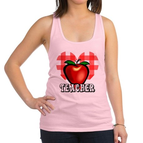 teacherapple2a.png Racerback Tank Top