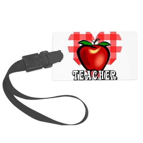teacherapple2a.png Large Luggage Tag