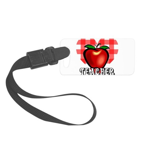 teacherapple2a.png Small Luggage Tag