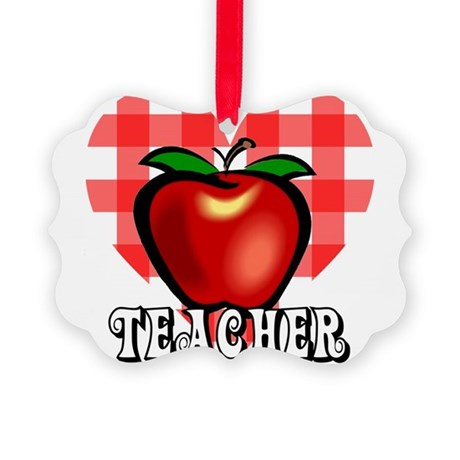 teacherapple2a.png Picture Ornament