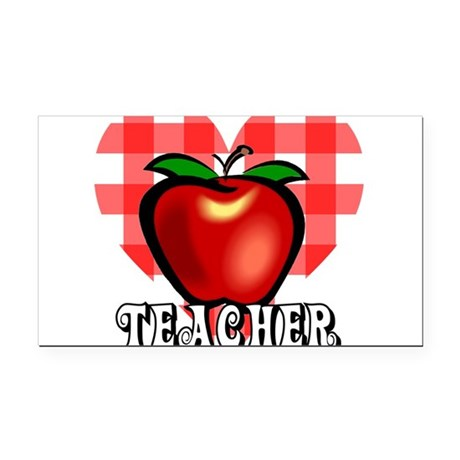 teacherapple2a.png Rectangle Car Magnet
